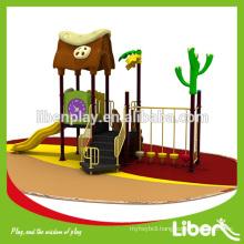 garden playground equipment,plastic slide,outdoor playground for children LE.YG.046