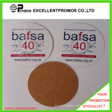 Best Selling Logo Printed Top Quality Cork Coaster (EP-C8270A)