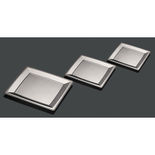 Hard Plastic Rectangular Party Silver Coating Plate
