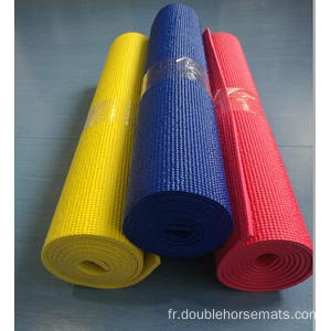Tapis de fitness PVC couleur unique