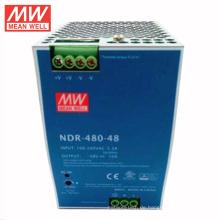 MEANWELL 75W bis 480Watt schlank und sparsam NDR-Serie DIN-Schiene montieren Schaltnetzteil 48VDC 10a mit ul ce NDR-480-48
