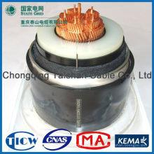 Profesional de alta calidad 3 cable de alto voltaje xlpe de núcleo