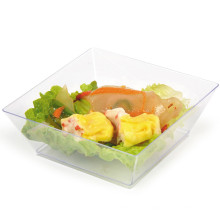 Tableware Disposable Bowl Plastic Bowl Square Bowl 10 Oz