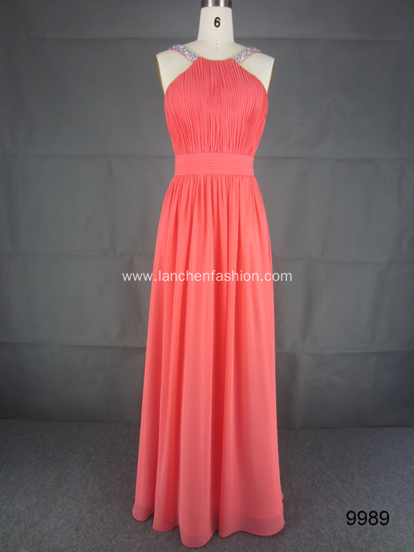 Sweetheart Chiffon Prom Bridesmaid Dress
