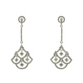 Zirkonia 925 Sterling Silber Dangle Ohrringe