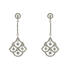 Zirconia 925 Sterling Silver Dangle Oorbellen