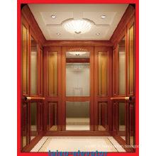 Béton et brique Passager Lift with Hairline Mur en acier inoxydable