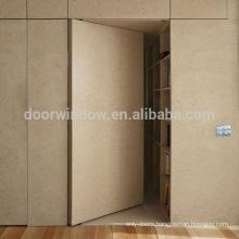 French style simple oak wood door design invisible door with hide hinge