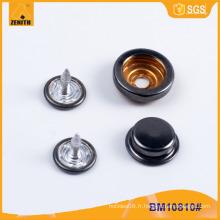 Nouveau bouton Snap de qualité bouton en métal BM10810