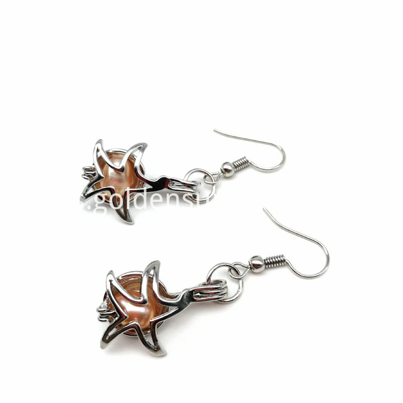Starfish Cage Pendant Earring Jewelry