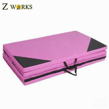 Easy carry handle foldable yoga mat excerise mat inflatable mat