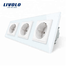 Livolo Manufactory Стандартные тройные электрические розетки ЕС VL-C7C3EU-11