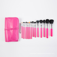 2016 New Professional Makeup Brush 15PCS with Pink PU Package