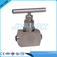 Válvula de agulha de aço inoxidável Válvula de agulha de aço inoxidável de extremidade de solda de extremidade
