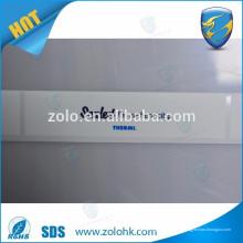 Forma personalizada e logotipo pet material de PVC etiqueta adesivo adesivo