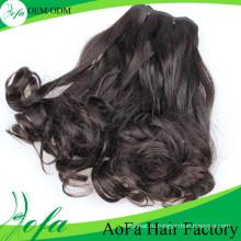 7А класс естественная волна Девы волос Реми человеческого волоса уток