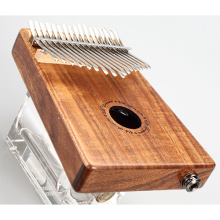 Piano électrique à pouces 17 tons en bois d'acacia
