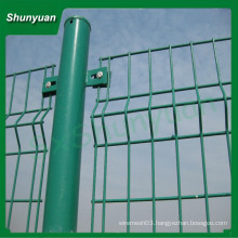 Galvanized bilateral wire fence/metal fence posts