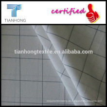 einfache Streifen weißen schwarzen Fensterscheibe Design Garn gefärbt Baumwolle Mitte dünne 117gsm Popeline weben Stoff für Kleidung