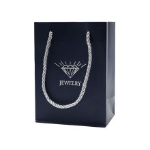 Hot Sale Elegant Custom Logo White Craft Paper Shopping Bag With Cotton Rope Handles