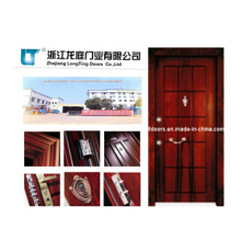 Turkey Steel Wooden Armored Door with ISO Certificate