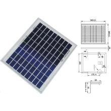 9V 12V 18V 8W 10W 12W polykristallines Solar-Panelpv-Modul mit TÜV ISO genehmigt