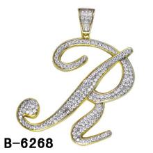 Colgante de plata esterlina de la letra de la joyería de la imitación