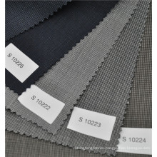 Good quality China supplier pin check 70%wool 30%polyester fabric for suit uniform