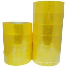Wholesale 52 Micron Transparent Yellow Bopp Tape Carton Sealing Use and BOPP Material Tear Tape
