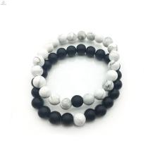 2018 Accessoires de bricolage blanc et noir de 8 mm bijoux de bracelet pour les couples