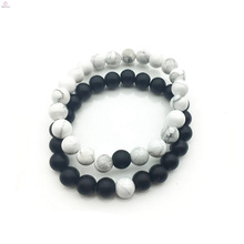 2018 DIY accessories white and black of 8 mm bracelet jewelry for couples