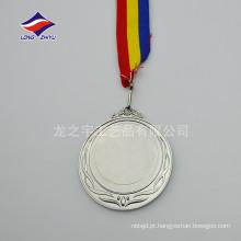 medalhas de prata de prata de prata personalizadas em branco medalhas de inserção em branco
