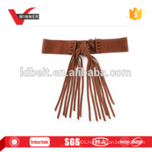 Fancy fringe sueded belt