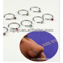 América moda BCR anillos de nariz de acero inoxidable piercing cuerpo