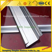 Perfis de alumínio escovado da extrusão para o armário / armário / fabricação do punho do vestuário