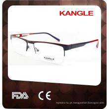 2015 hotsell unisex com acetato superior de dobradiça com óculos de metal 2015