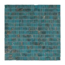 Green Square Crystal Glass Mosaic Swimming Pool Tiles Bathroom Flooring Mosaic