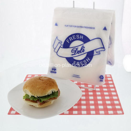 Schieben Sie Deli Bag Clear Food Bag