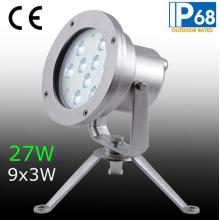 IP68 27W светодиодный подводный свет, светодиодный фонтан подводный свет