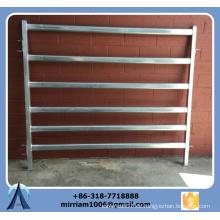 1800 mm * 2100 mm Paneles de ganado galvanizado de 6 barras resistentes