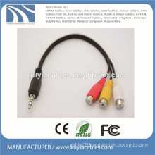 3.5mm Stereo to 3 RCA Cable Male to Female 1 to 3 Audio Video Cable