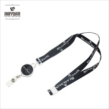 Full Color Sublimation Retractable Reel Lanyard with White Clips