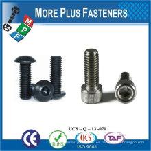 Fabricado en Taiwán 8.8 Grado M8-1.25 x 25mm DIN 912 Clase hexagonal Clase 12.9 Acero de aleación de aleación Tornillo de casquillo de acero