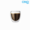 2014 new products borosilicate glass double wall glass cup DG-B-100
