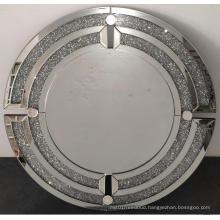 Crystal diamond round modern hanging mirror