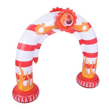 Jouet gonflable en arc d'arrosage en forme de lion