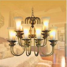 Traditionelle elegante Design Glas Kerzen Anhänger Beleuchtung