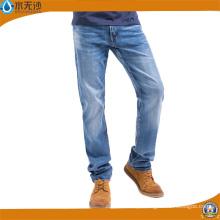 Jeans Denim Calças de Fábrica Barato Calça Jeans Casual Men Men