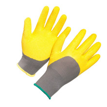 3/4 DIP Latex Crinkle Coated Labour Work Gloves