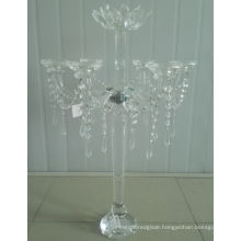 Crystal Candle Holder for Wedding Decoration with Seven Poster